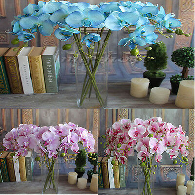 78cm Artificial Fake Silk Flower Phalaenopsis Butterfly Orchid Wedding Party Dec