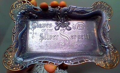 Bryan Campaign Metal, Denver Slaves Silver Serpent 1897 Tray, Mountain and Plain