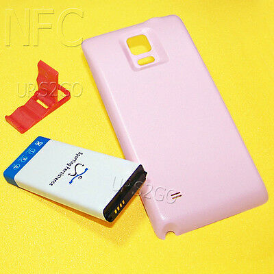 Lot of 11900mAh Extended NFC Battery Cover Bracket f Samsung Galaxy Note 4 N910P