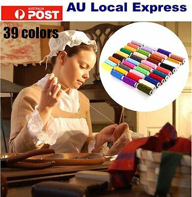 39pcs 200 Yard Mixed Colors Polyester Spool Sewing Thread For Hand Machine O5