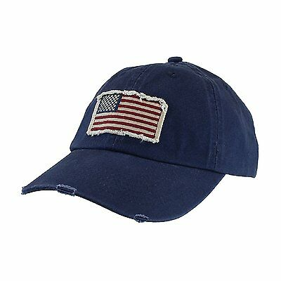 NEW USA Vintage Frayed American Flag Baseball Cap - Unisex