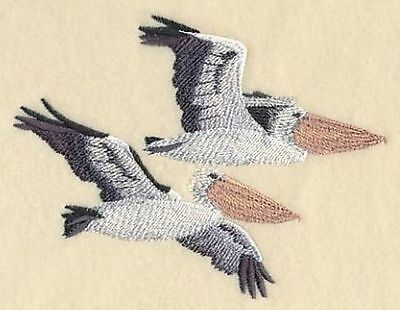 """Pelican, Bird, Embroidered Path 5.8""""x 3.8"""""""