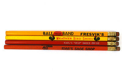 Four Shoe Store Advertising Pencils Weather Bird Shoes Ball Brand Kustom Made