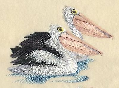 """Pelican, Bird, Embroidered Path 4.8""""x 3.3"""""""