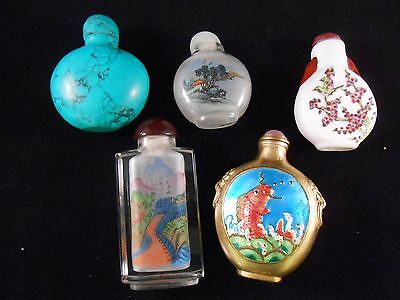 Chinese Assorted antique reproduction Snuff Bottles (5 pcs lot)