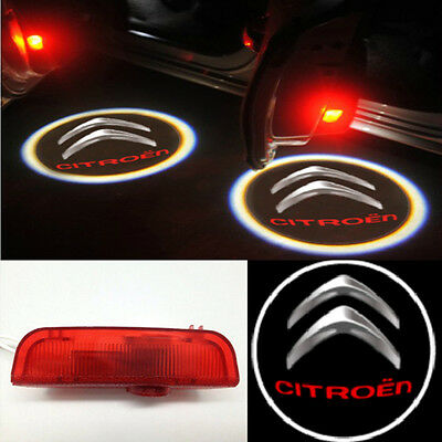 For C4L Picasso LED Door Welcome Projector Logo Light lamp 2pc Red