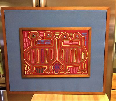 Midcentury Modern Textile Wall Art Mola of Kuna Indians