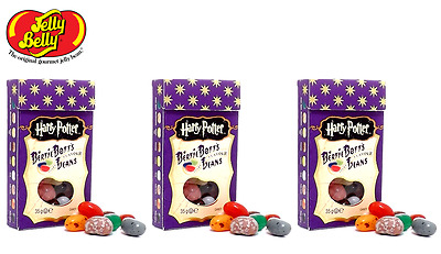3 Boxes Harry Potter Bertie Bott's Every Flavour Beans 1.2oz 34gr. Jelly Belly