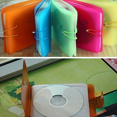 1Pc CD DVD Disc Double 12Pcs Sleeves Holder Pack Clear Storage Bag Cover Handy