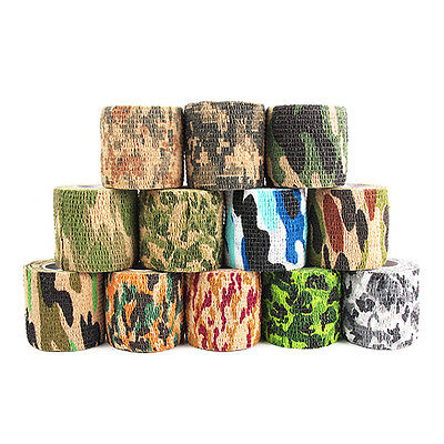 5cmX4.5m Military Camouflage Adhesive Stealth Tape Wrap Hunting Outdoor Survival