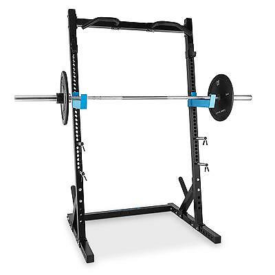 New Capital Sports Racktor Half Rack Barbell Station Steel Black * Free P&p Uk