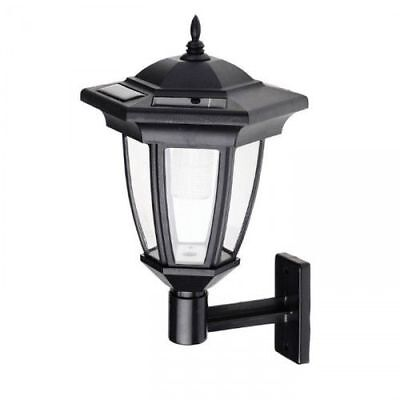 Cole and Bright Solar Powered Classic Coach Lantern Ice White LED Wall Light