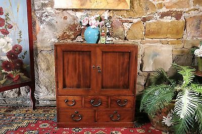 Antique Japanese Tansu Cabinet~Chest~Sideboard~Drawers-Elm