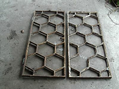 Pair Cast Iron Windows OFFERS INVITED Hexagonal Mirror Potential ?