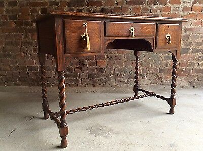 Superb Antique Waring & Gillow Desk Oak Edwardian Early 20th Century Circa 1905