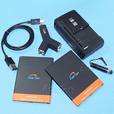 For Samsung Galaxy Mega SCH-R960 Battery Travel Car Charger Micro Data Cable Pen