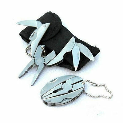 Portable Multi Function Folding Pocket Tool Plier Knife Keychain Screwdriver