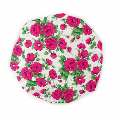 Sophisticated Liberty Fabric Shower Cap With Satin Detailing Design Carline Pink