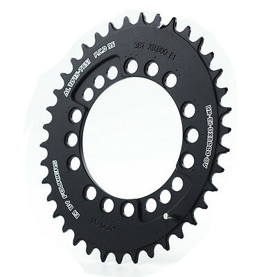Fouriers MTB Bike Big Oval Single Chainring BCD 96 For Shimano XT M8000 Black
