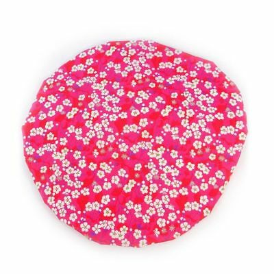 Luxury Liberty Fabric Shower Cap With Satin Detailing Design Mitzi Hot Pink