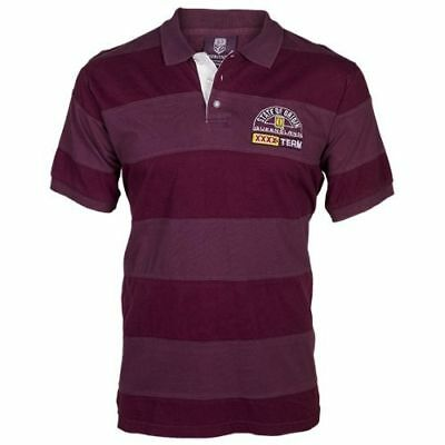 Queensland QLD State of Origin NRL Mens Heritage Cut and Sew Polo Shirt Rugby