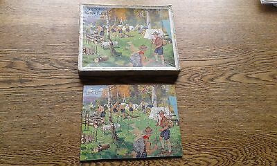 Victory  jigsaw Boy scout's camp vintage. Rare complete