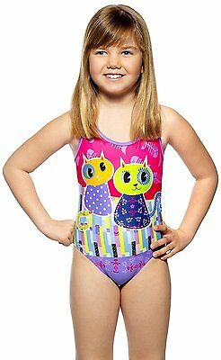 Turbo Traje de Baño Junior PATCHWORK CATS Niña Natacion Piscina