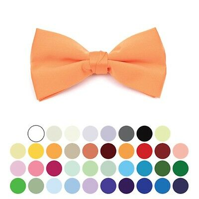 Boy's Pre-tied Adjustable Length Bow Tie - Formal Tuxedo Solid Color