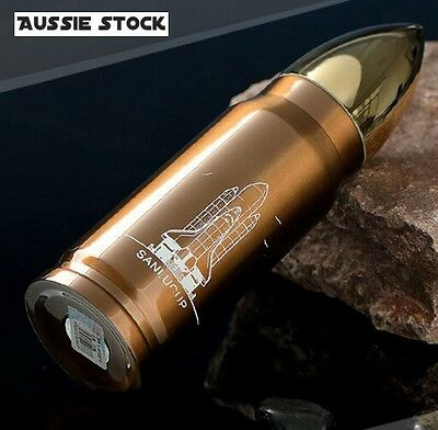 Bronze Colour Stainless Steel Bullet Shaped Vacuum Flasks Thermos Travel Mug