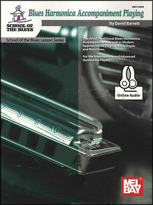 Blues Harmonica Accompaniment Playing Sheet Music Book with Audio David Barratt