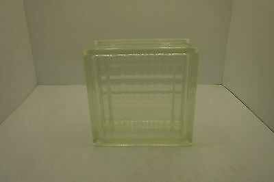 "Vintage Architectural Glass Building Block 7-3/4""Square X 4"" Thick Crafts NNB"