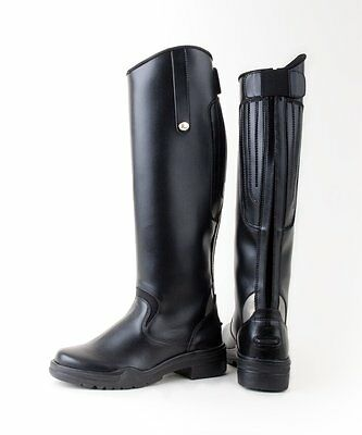 Rhinegold Nebraska Synthetic Long Riding Boots All Sizes
