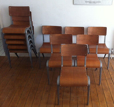Vintage Esavian stacking chairs, British, Industrial, Mid Century Design