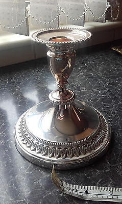 Vintage Viners of Sheffield Alpha Plate Candlestick.