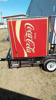 Vintage Coca-Cola Double Sided Lighted Outdoor Sign 1970s Drive-In NEAT
