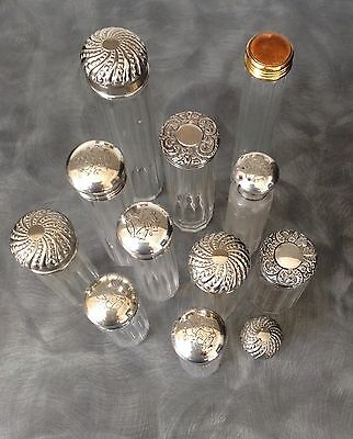 Collection Of Silver Dressing Table Bottles Mainly Victorian
