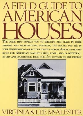A FIELD GUIDE TO AMERICAN HOUSES Virginia, Lee McAlester FREE SHIPPING paperback