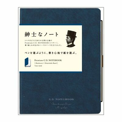 APICA CDS251Y Navy Premium C.D. NOTEBOOK Hardcover A5 7 mm ruled