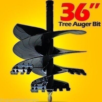 """36"""" Tree Auger Bit for Skid Steers & Tractors,48"""" Long,Mfg By McMillen,Made USA"""