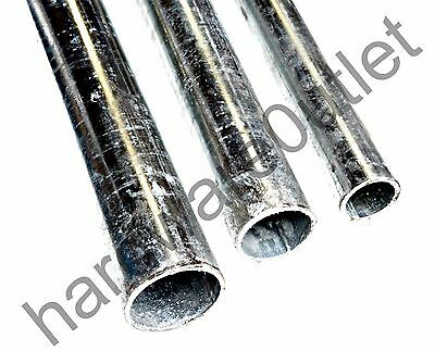 Galvanised Mild Steel Round Tube Pipe Post Pole - 4 Dia Available - 4 Lengths