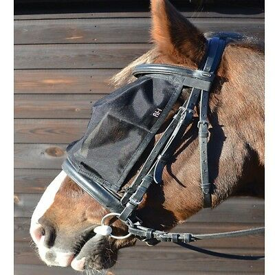 HY RIDING FLY MASK horse pony fly repellent eye uv protection black