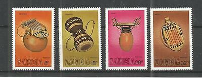 Zambia 1981 Musical Instruments Sg,356-359 U/m N/h Lot 950A