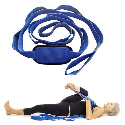 New Yoga Stretching Strap Band Multiple Grip Loops Women Fitness Accessories