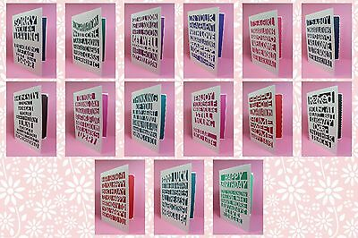 Brother ScanNCut 'Just Words' card & insert templates CD1072