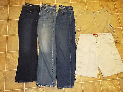 Mens size 34x32 jeans Shorts lot American Eagle Outfitters Cargo Old Navy