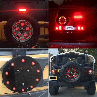 Spare Tire LED Lamp Wheel Rear 3rd Brake Decoration Light For Jeep JK Wrangler