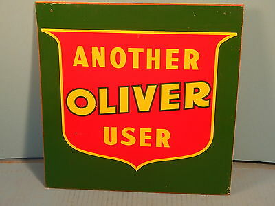 """Oliver Tractor Advertising Sign Wood 12"""""""