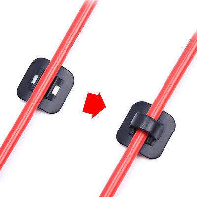 4Pcs Alloy 3M Stick-On guides bicycle Bike Housing/Hose Cable Guides w/C-Clips