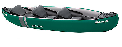NEW Sevylor Adventure 3 Person Sit In Seat Inflatable Blow Up Boat Kayak Canoe