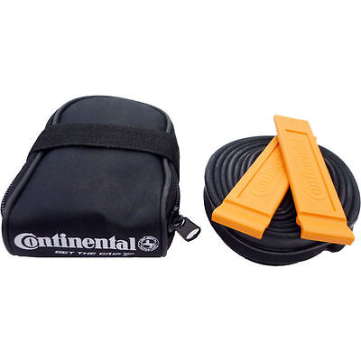 "Continental Road Bike Seat Saddle Cycle Pack Bag - 700"" Inner Tube & Tyre Levers"